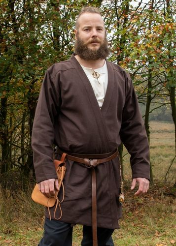 Viking kaftan BJØRN,canvas cotton,brun